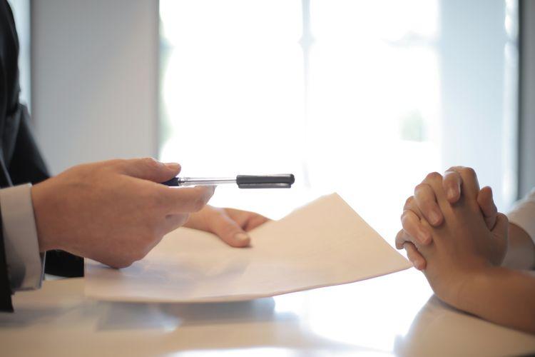 Podpis na wypowiedzeniu o pracę